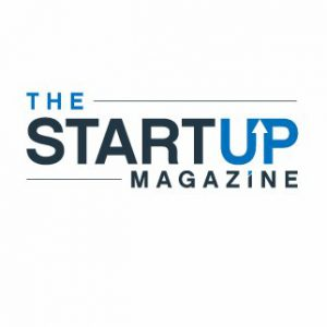 the startup magazine on white background