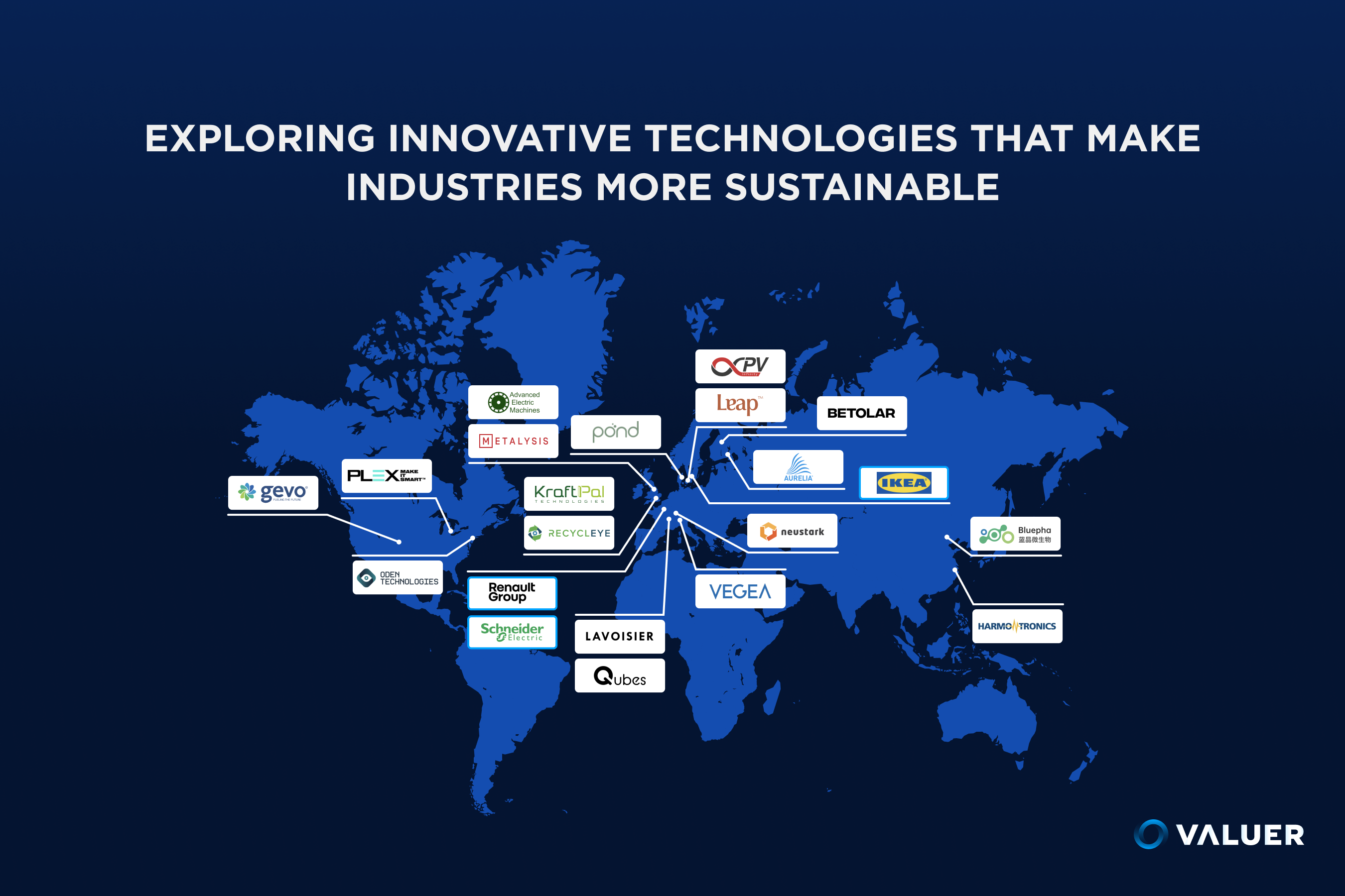 manufacturing companies map