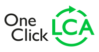 One click LCA logo