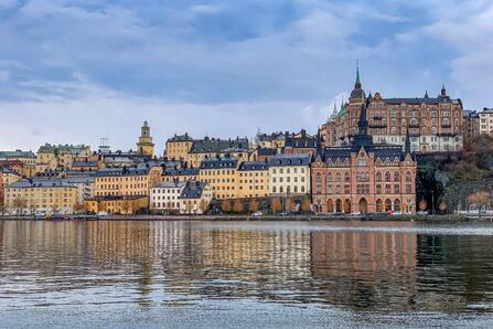 photo of stockholm from the water