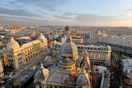 bucharest arial view