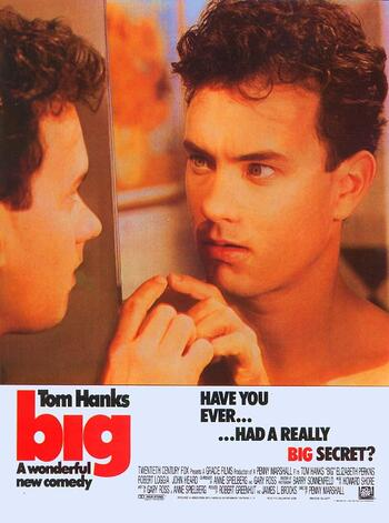 Big movie poster - Tom Hanks stand in front of the mirror