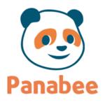 panabee logo with orange and grey panda