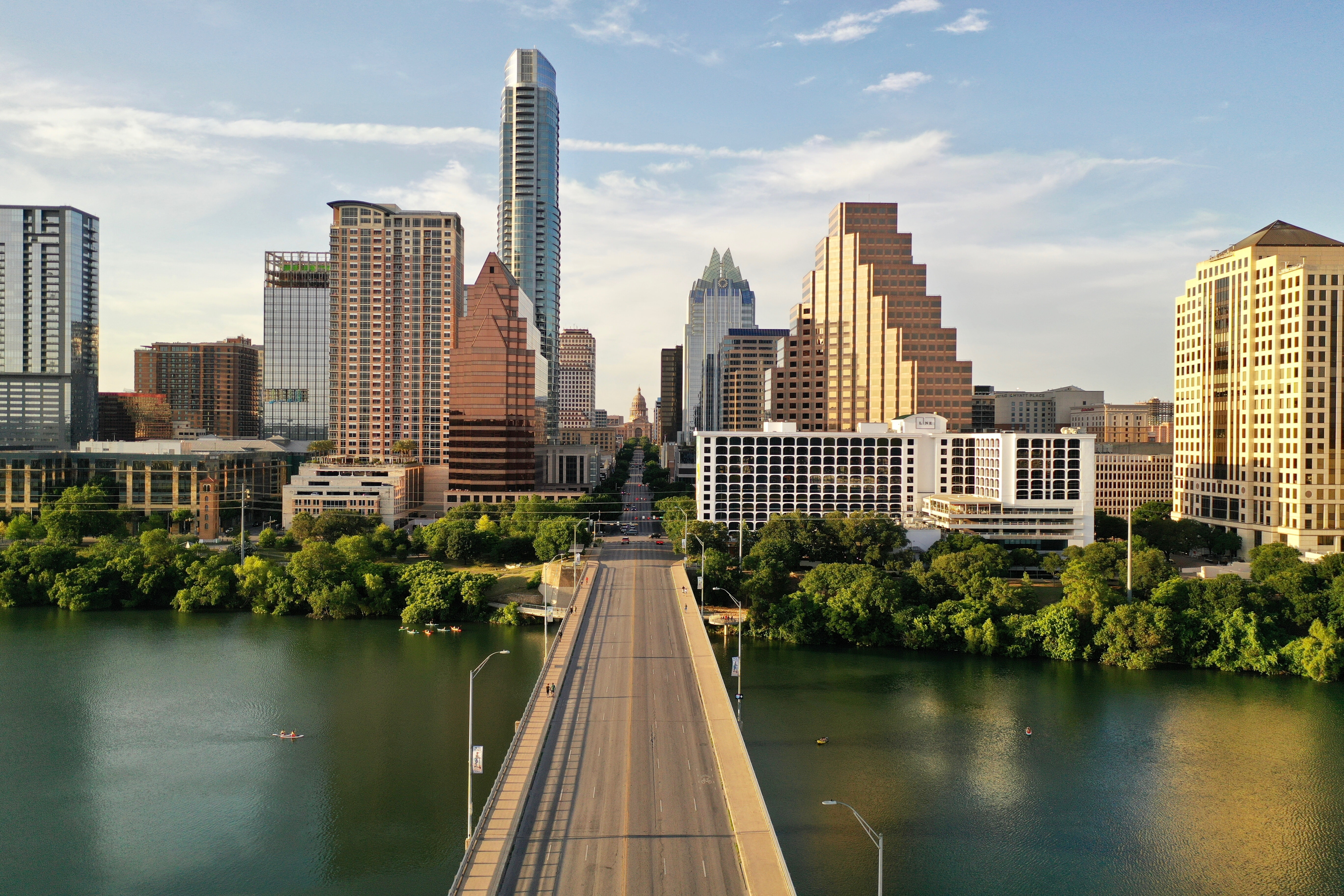 view of downtown austin from a bridge
