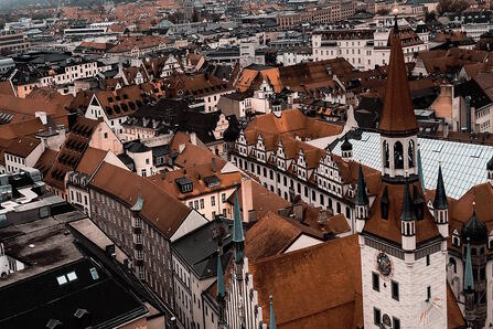 arial view of munich