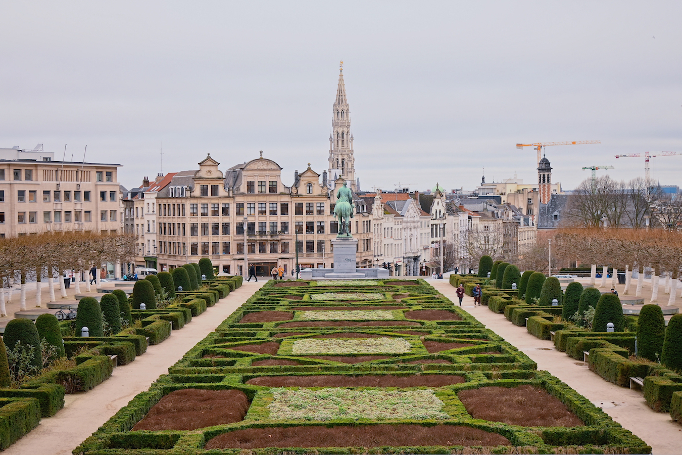 brussels from a city square