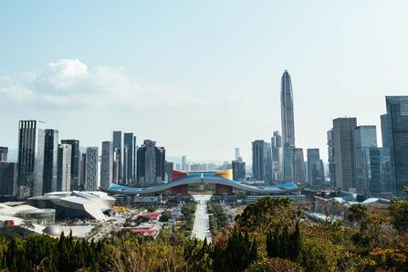 shenzhen, china and skyscrapers