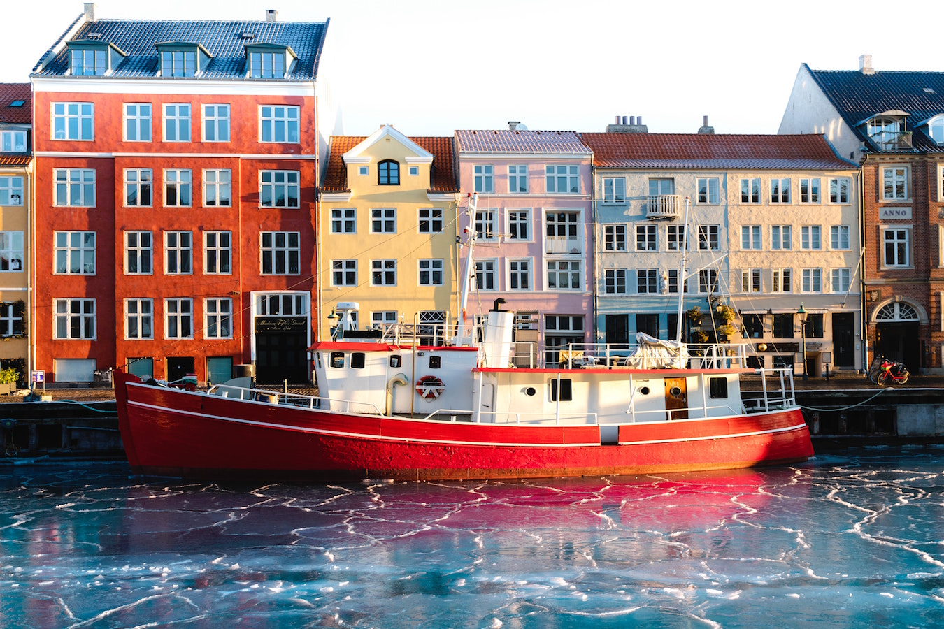 nyhavn in winter. copenhagen, denmark