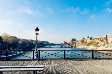 Lyon from a bridge