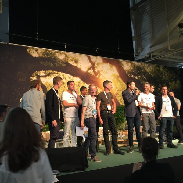Founders and Team On Stage